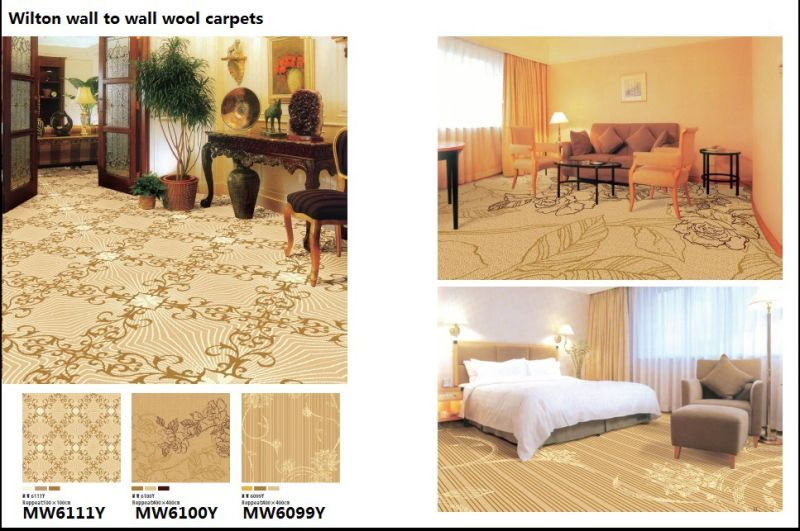 Wilton Broad Loom Wool Hotel Carpets