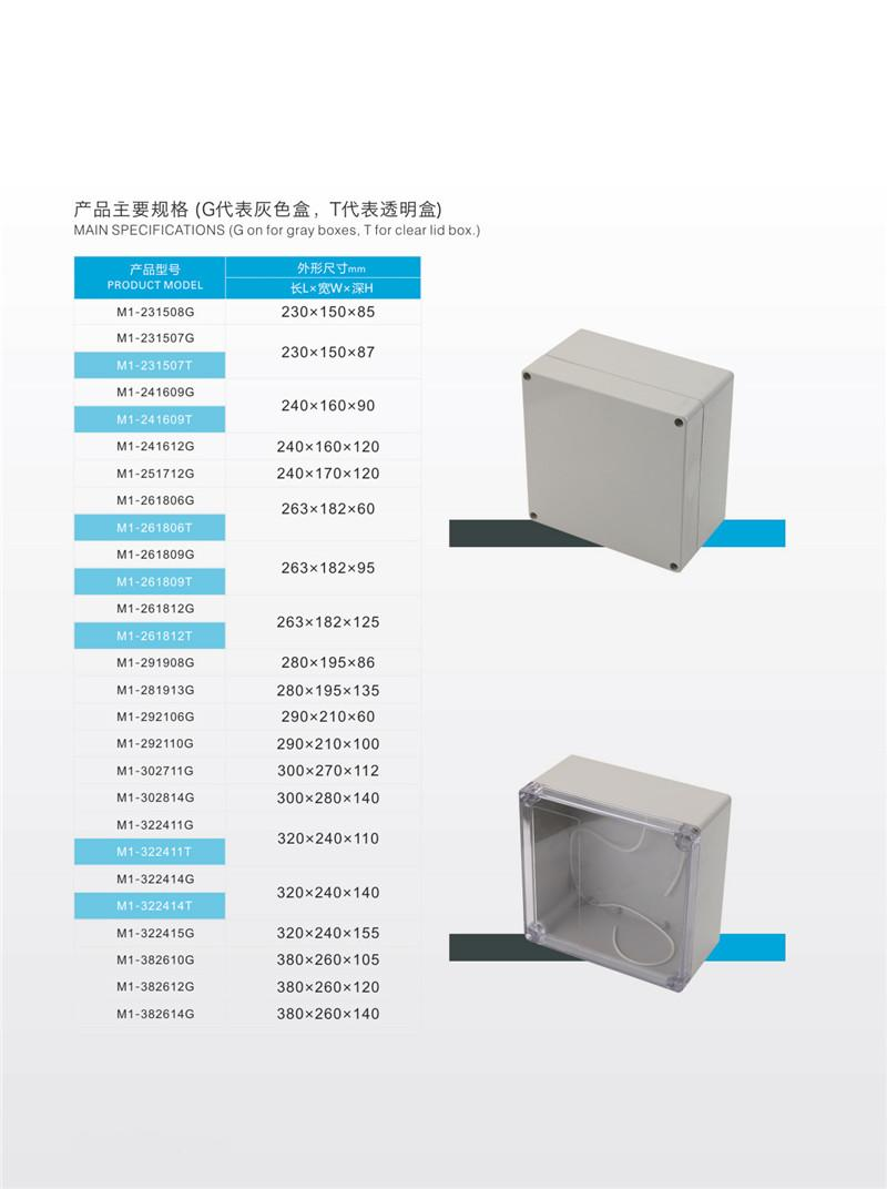Cast Aluminum Electrical Junction Meter Box and Plastic Junction Box