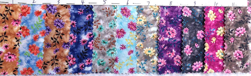 100% Polyester Flower Design New Arrival Printed Fabric 80GSM Width 150cm