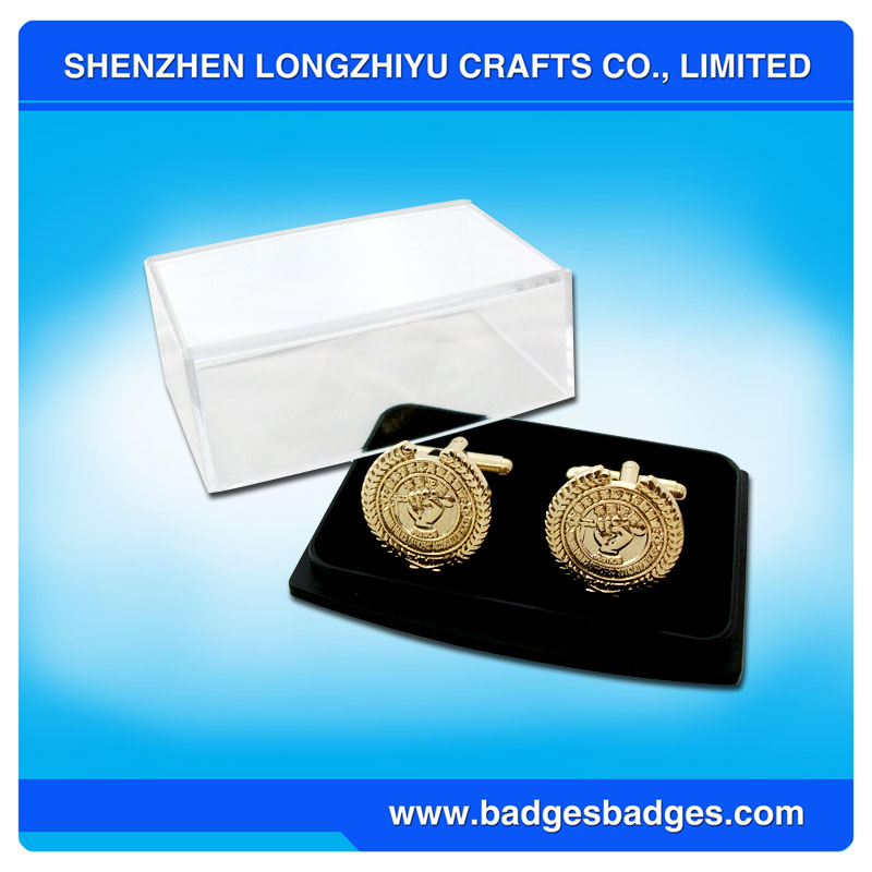 Die Casting Cufflinks Wholesale Gold Bulk Cufflinks with Gift Box