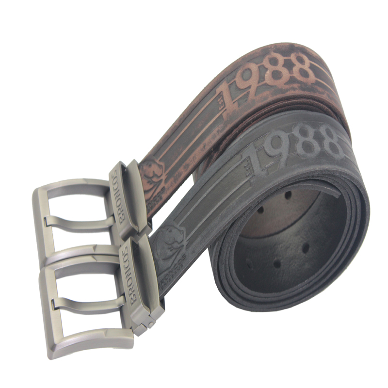 Top Quality Genuine Leather Men's Waist Belt with Alloy Buckle