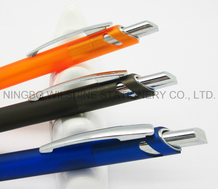 Hot Selling Chinese Plastic Pen for Promotion Logo Printing (BP0216F)