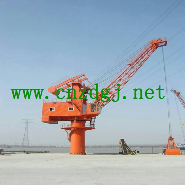Floating Crane Work Near Dock for Construction Need