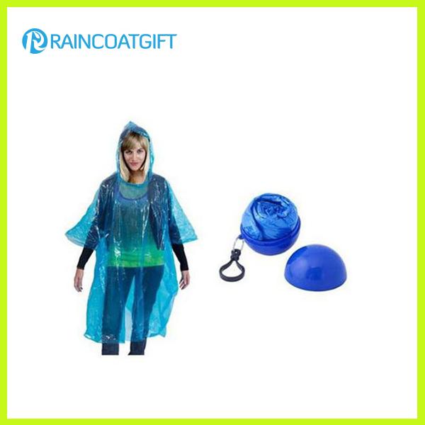 Disposable PE Raincoat in Plastic Ball Rpe-035