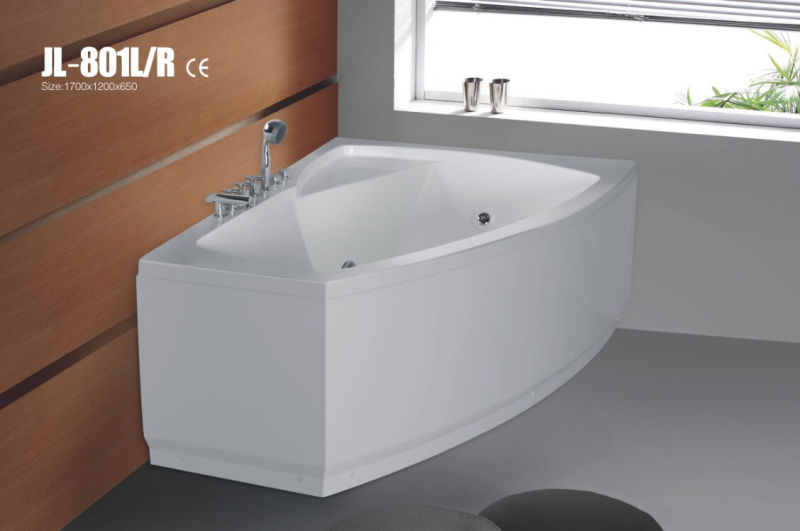 Hot Style Acrylic Corner Massage Bath Tub (JL801L/R)