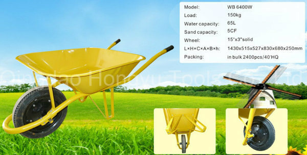 Europe Market France Model Wheel Barrow/Wheelbarrow with 15