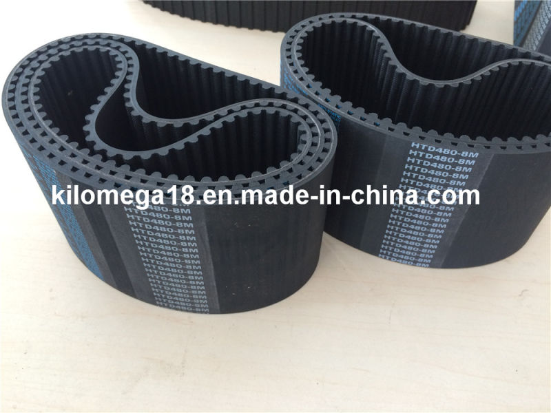 High Performance Rubber Timing Belt for Industry Htd480-8m-100mm