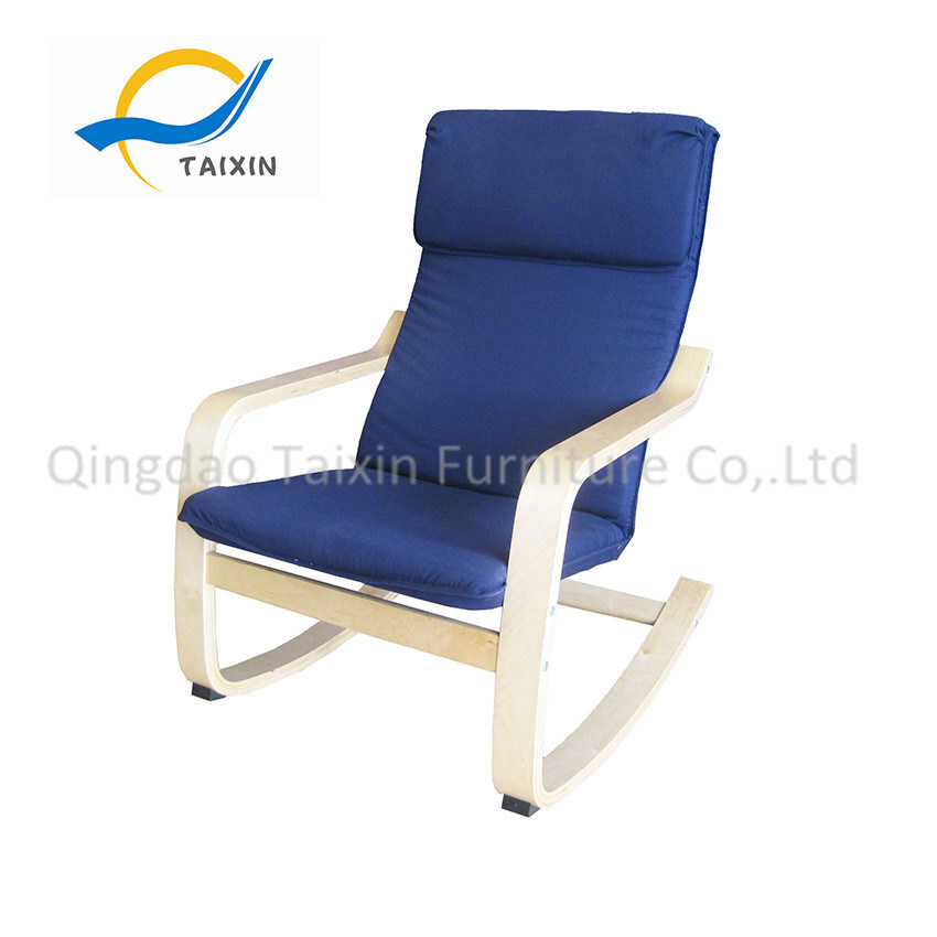 Wooden Furniture Lounge Rocking Chair with Metal Frame