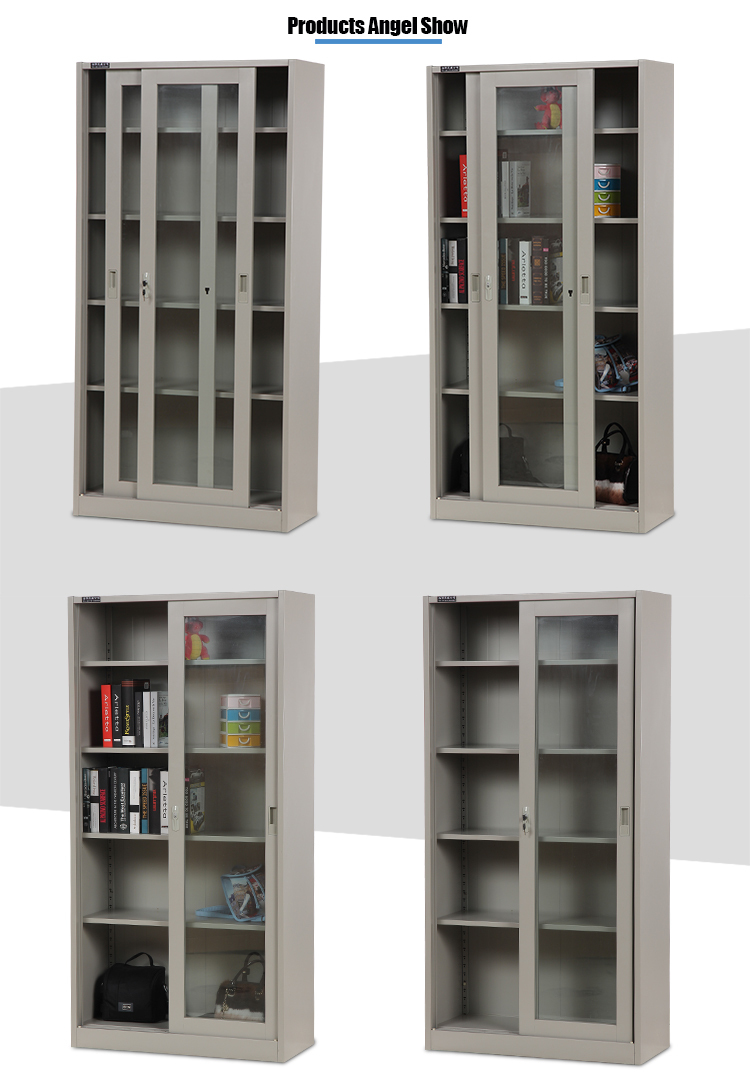 glass door steel cupboard