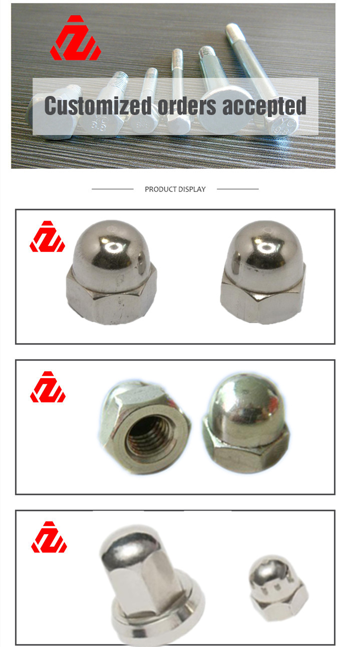 DIN1587 Stainless Steel Hex Cap Nut