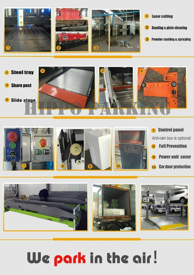 Two Cylinders Car Parking Elevator /Auto Garage Equipment