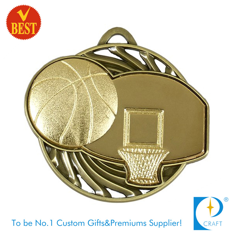 Factory Price China Custom Creative Design 3D Basketball Medal with Hollow out