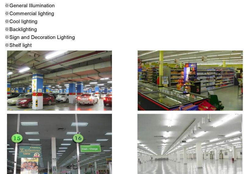 Office Lighting 2FT 60cm 4 PCS Fixture LED Tube Light