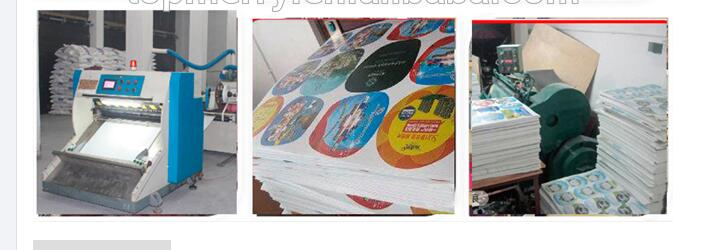 Customized Promotion Round Paper Plastic Han Fan