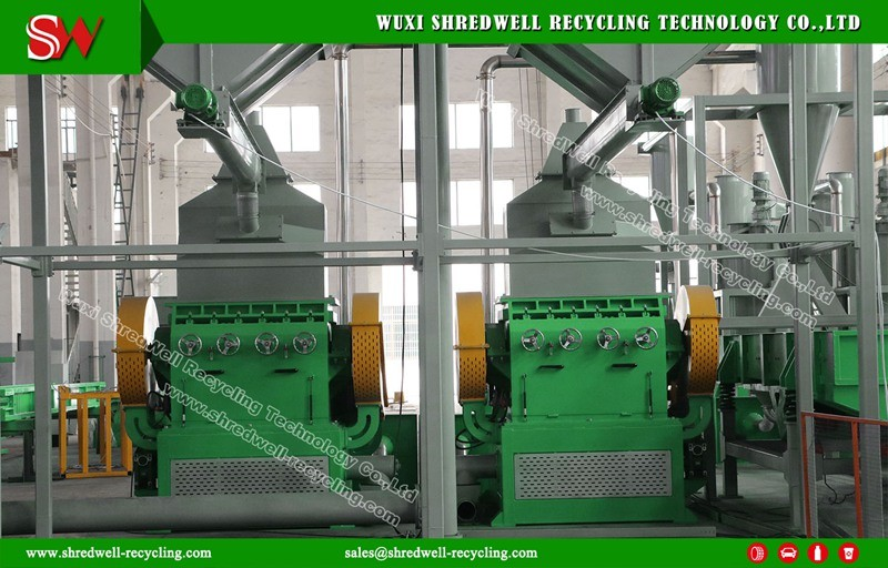 Us Technology Rubber Granulator for Scrap Tire Recycle Line