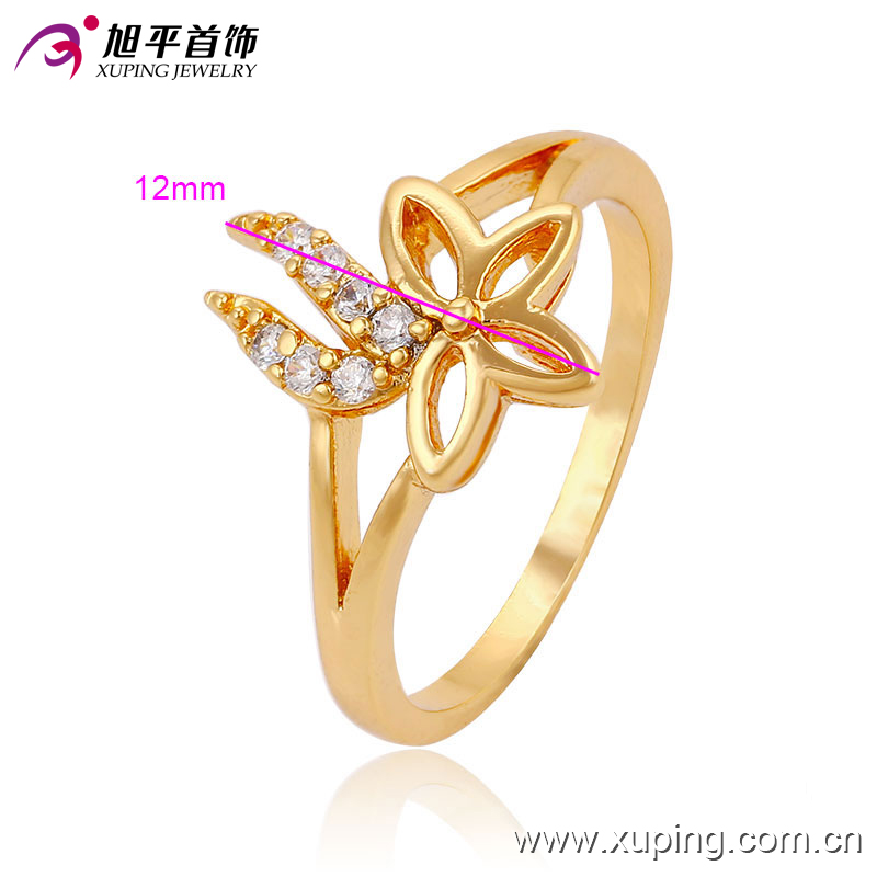 Latest Design Popular Gold -Plated Betterfly Jewelry Finger Ring Design for Women -13528