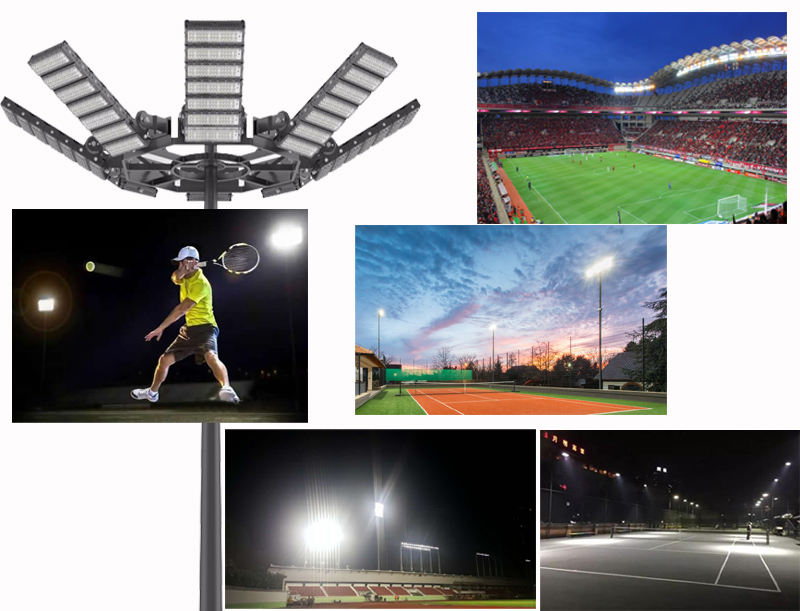 Stadium Tennis Basketball Football Sport Court Field 300W/400W/500W/600W/700W/800W/1000W/1200W LED Flood Light for Outdoor Lighting