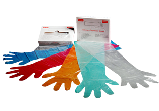 Colorful Disposable Veterinary Gloves