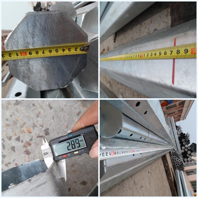 10kv Transmission Line Steel Pole