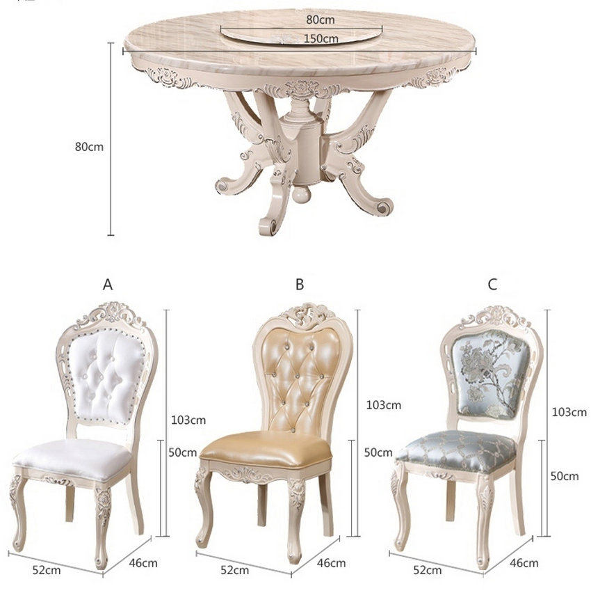 Wooden Dinner Chair, Europe Style Chair, French Style Chair (619)