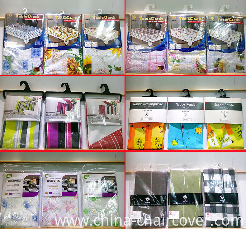 New Designs PVC Transparent Table Cloth /Oilcloth Factory
