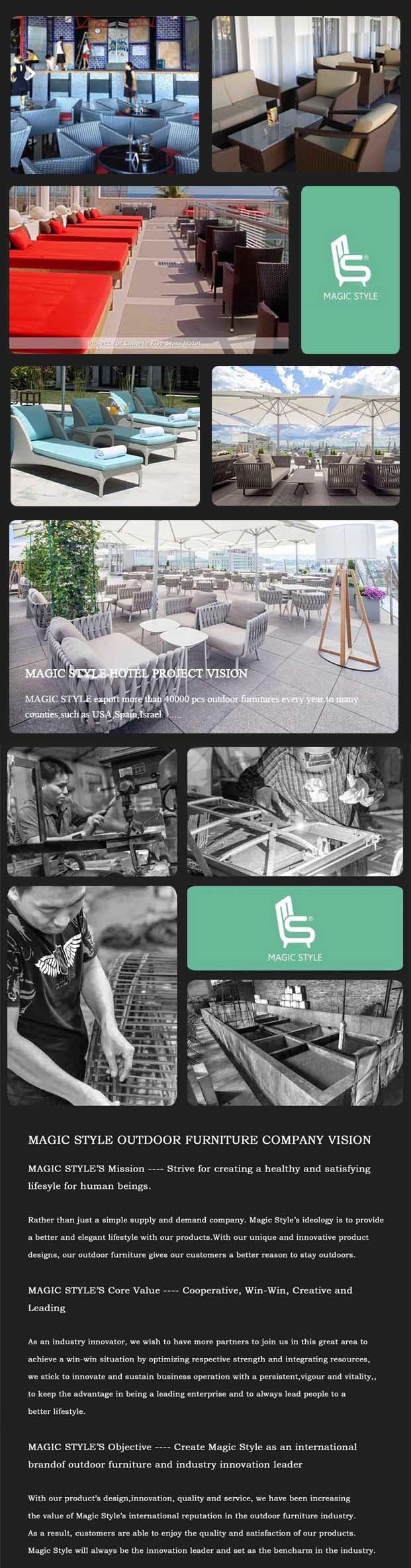 Outdoor Furniture with PU Cushion Poly Wood Sofa Garden aluminum Sofa Set Patio Furniture