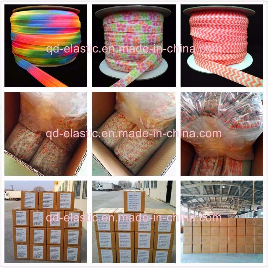 13mm Satin Face Fancy Sublimation Printing Stretch Ribbon Band