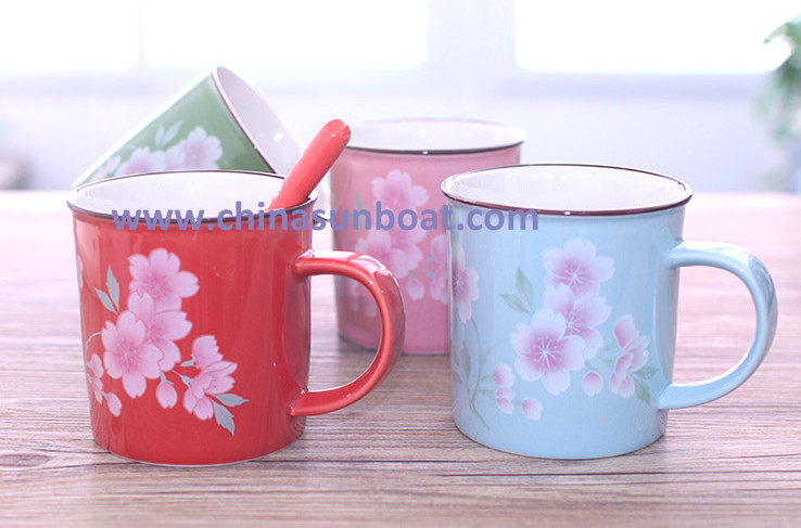 Sunboat Enamel Cup Enamel Mug Cup Coffee Cup Milk Cup Tableware Kitchenware/ Kitchen Appliance