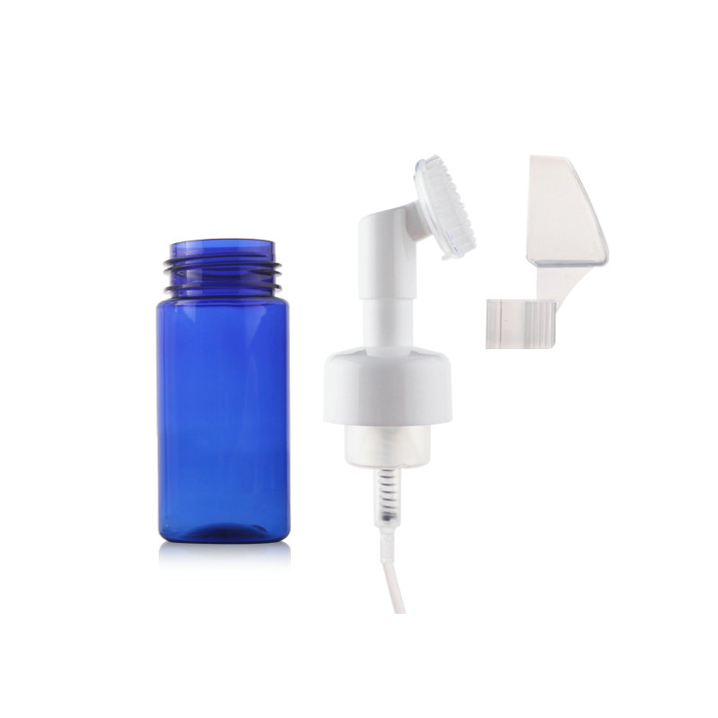 Cosmetic Foaming Pump Bottles with Brush for Cleaner 100ml