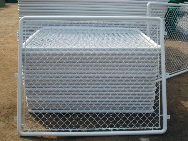 Aluminum-Coated Before Weaving Steel Chain Link Fabric Fence
