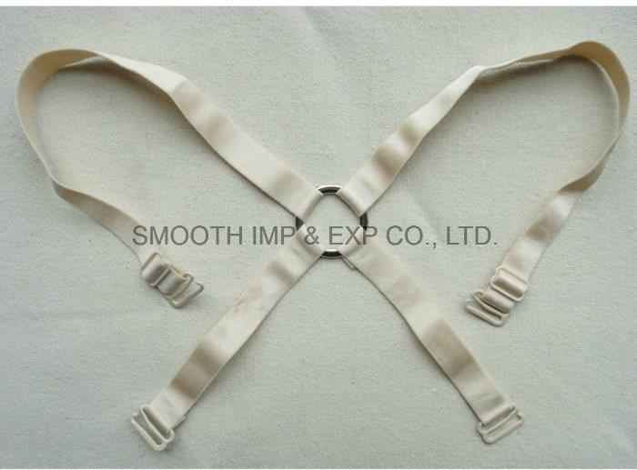Fashion Pure Color Bra Elastic Fabric Shoulder Strap for Women