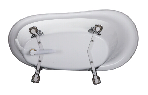 Cupc Color Clawfoot Freestanding Acrylic Bathtubs
