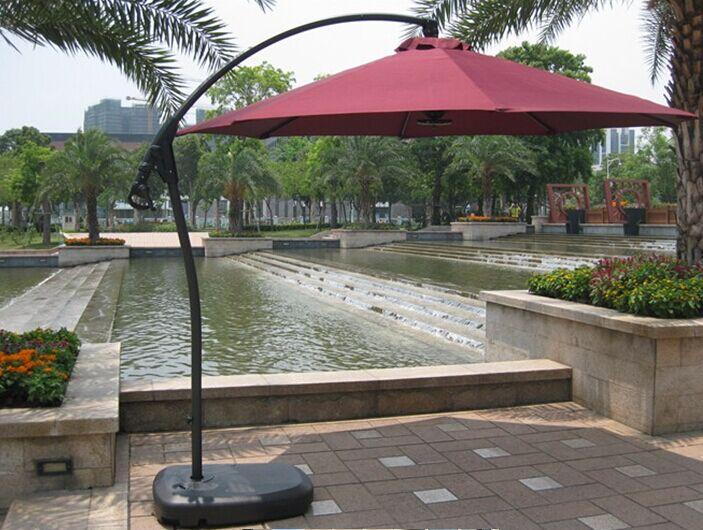 Outdoor Garden Patio Aluminum Umbrella for Hotel Restaurant