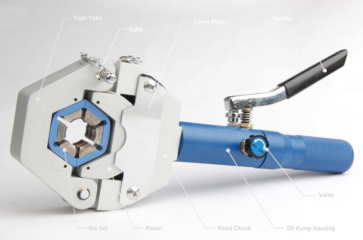 Xhnotion A/C Hose Manual Hydraulic Crimper Tool Set