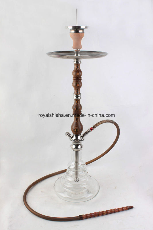 2016 Good Quality Wooden and Stainless Steel Stem Shisha Hookah