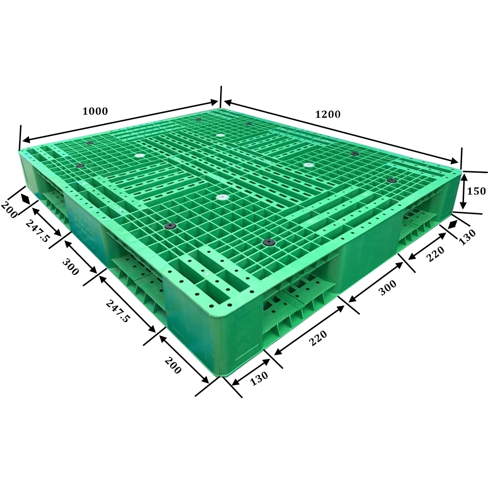 48 X 45 Inch Double Faced Steel Reinforced Plastic Pallet