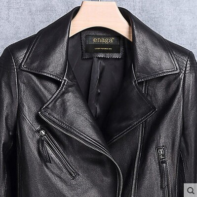 Genuine Leather Clothing Motorcycle Jacket Women