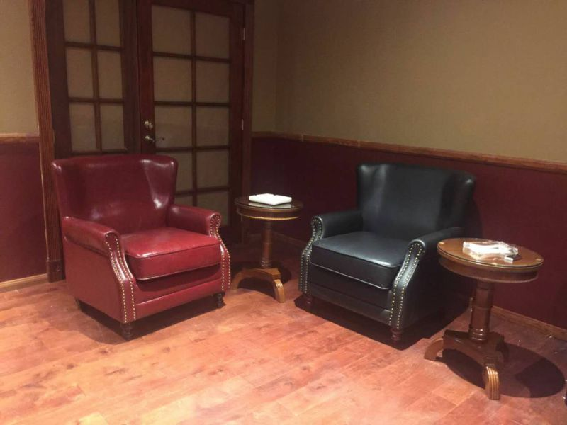 Club Chair, Leather Chair, Sofa, Hotel Chair, Cigar Bar Chair (A888)