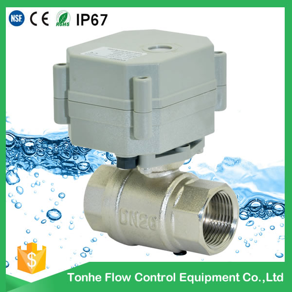 Ce Dn20 Nickel Plated Brass Automatic Electric Motorized Motorised Ball Valve