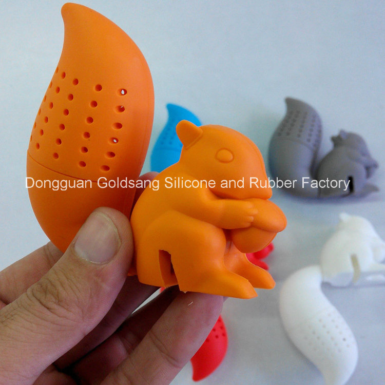 Hot Selling New Style Food Grade Squirrel Silicone Tea Infuser