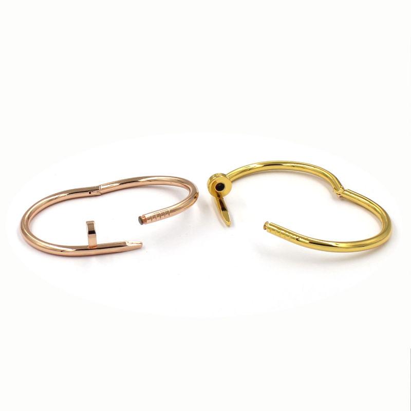 18k Gold Nail Metal Magnetic Bangle Bracelet
