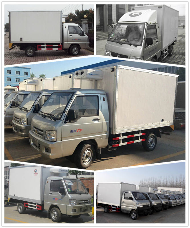 3ton Dongfeng Refrigerator Van Truck for Meat Fish Delivery