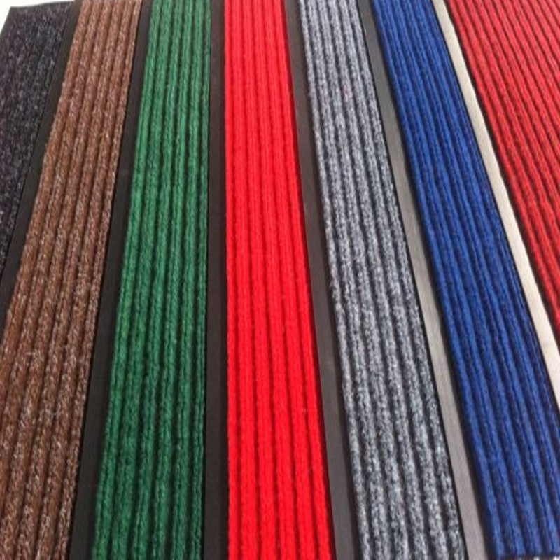 Double Stripe Carpet Mat with PVC Backing