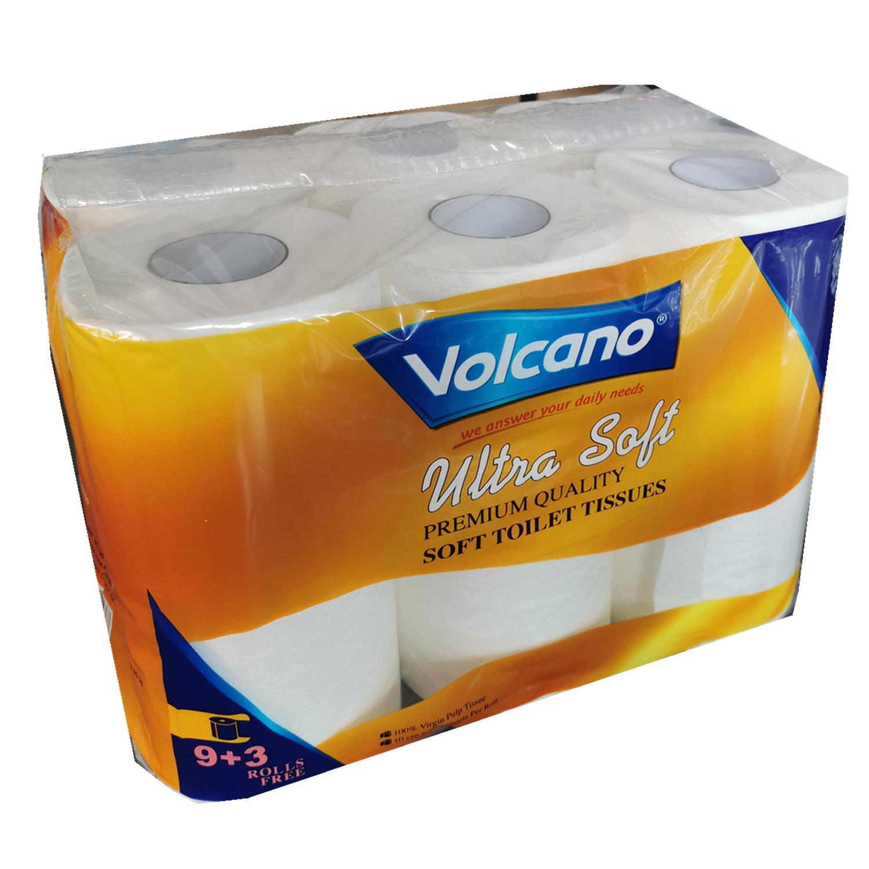 White toilet roll paper for hotel bathroom