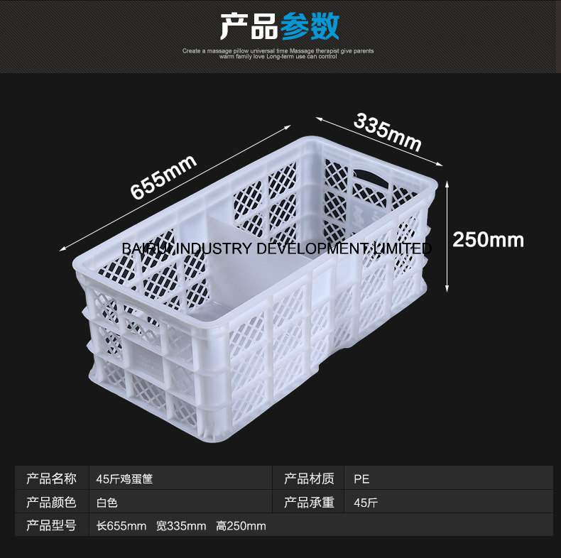 Customized Plastic Storage Basket, Plastic Vegetable Basket, Plastic Fish Basket