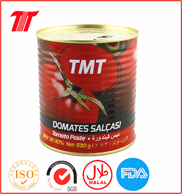 Turkish 830g Canned Tomato Paste with Low Price