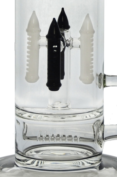 4 Tower Inline Showerheads Glass Water Pipe for Smoking (ES-GB-449)