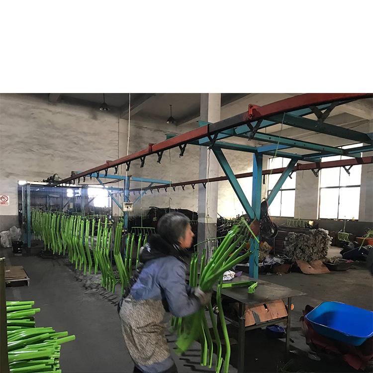 Steel Powder Coated Platform Trolley Hand Truck Luggage Cart Shopping Trolley Pzs350