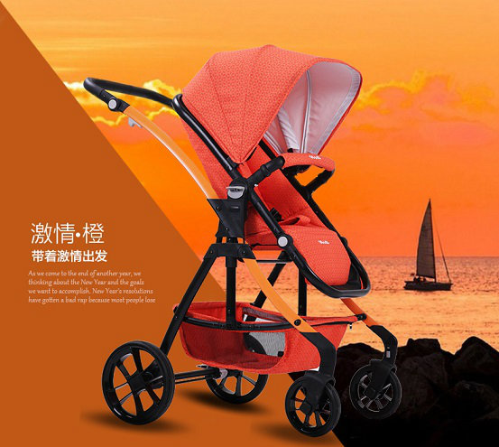 2016 New Baby Stroller/ Luxury 3 in 1 Baby Pushchair