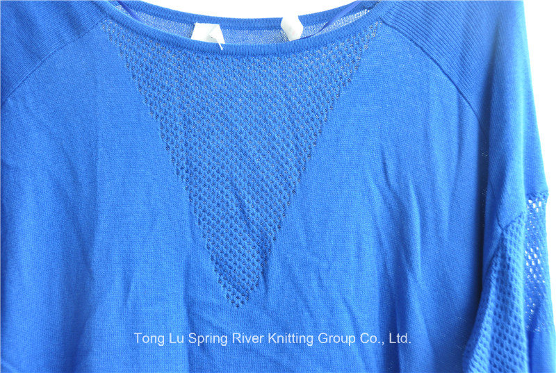 Ladies Long Sleeve Round Neck Knit Pullover Sweater
